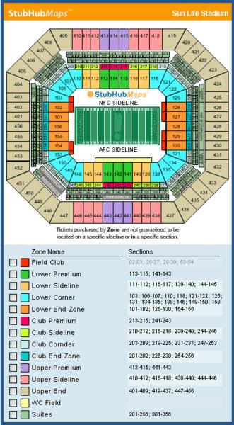 Hard Rock Stadium Mapa Asientos Imagenes Direcciones Y Historia