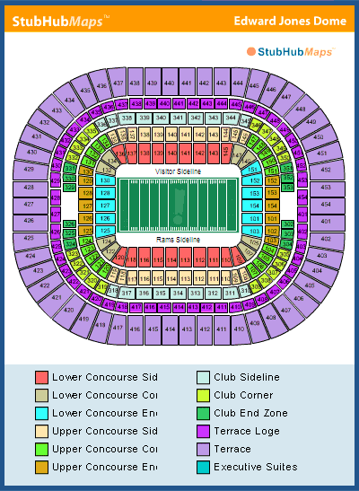 Edward jones dome seating chart rams edward jones dome seating