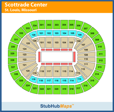 Hd Image Of Scottrade Center St Louis Seating Chart Elcho Table