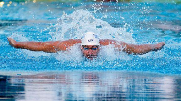 733b755694 Michael Phelps captures 100 fly gold in return from 6-month ...