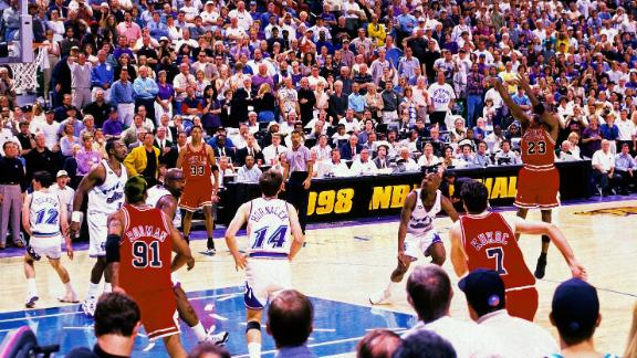On this Date: MJ sinks jumper over Russell for 6th championship