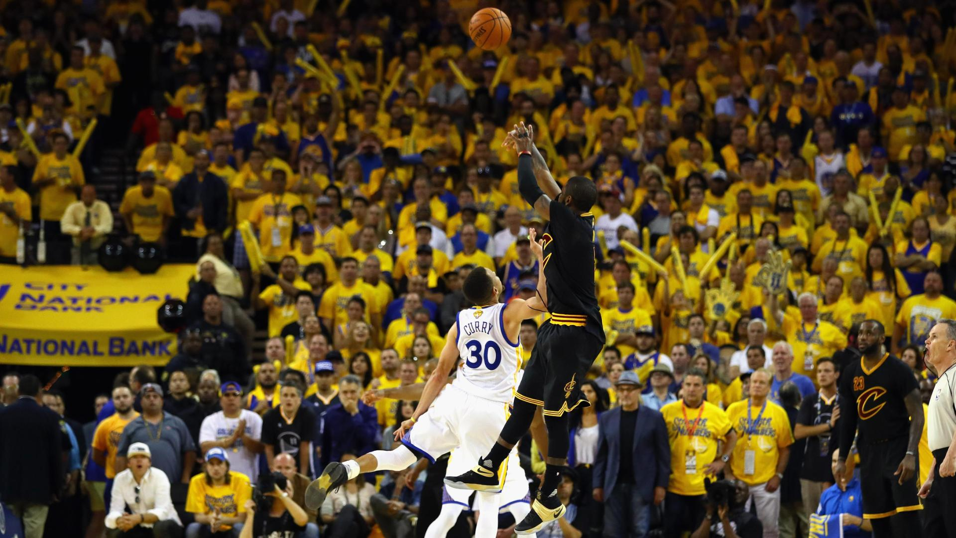 Kyrie drains game-winning 3-pointer in Curry's face
