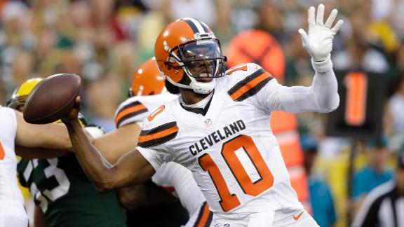 Robert Griffin III has mixed results in preseason debut for Browns ...