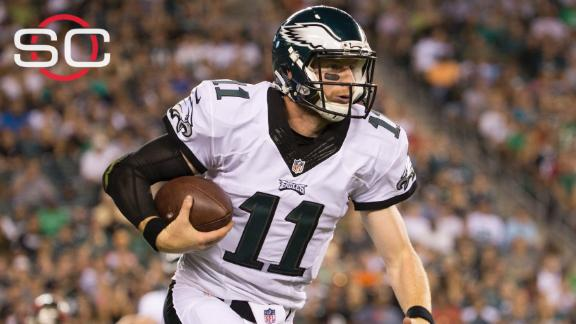 pretty nice 3ab84 95a0c Eagles rookie Carson Wentz out indefinitely | abc7.com