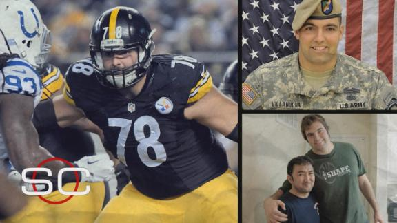 SC Featured: An NFL player and the bond he formed on the battlefield
