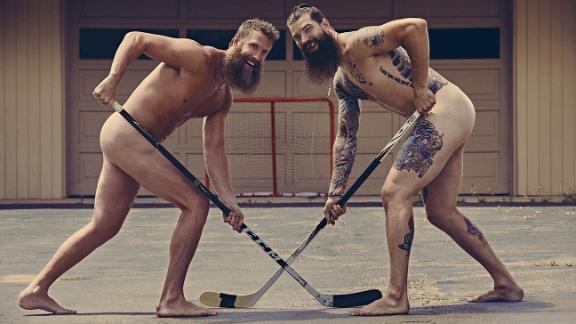 Brent Burns and Joe Thornton let their beards fly