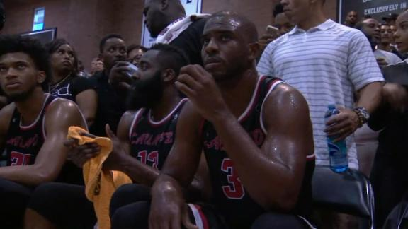7bc674635b69 Rockets duo of Chris Paul and James Harden puts on show at Drew League