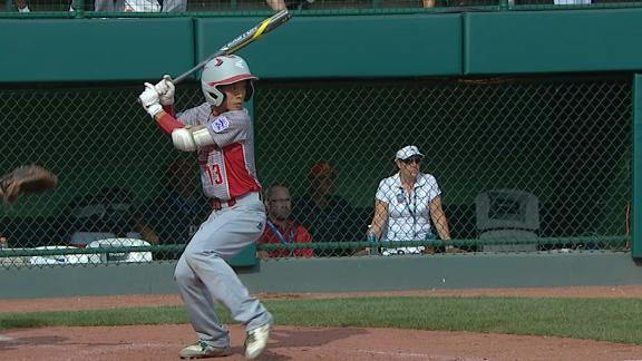 Japan pads LLWS final lead with solo HR