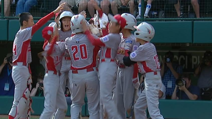 Japan crushes 3 HRs in 4th inning at LLWS
