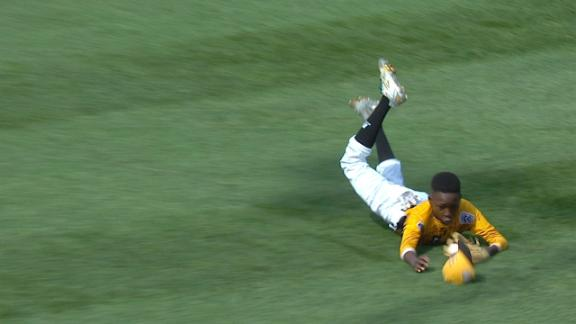 All smiles for NC after this diving catch