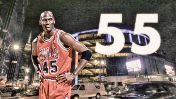 When Jordan wowed MSG with his 'double-nickel'