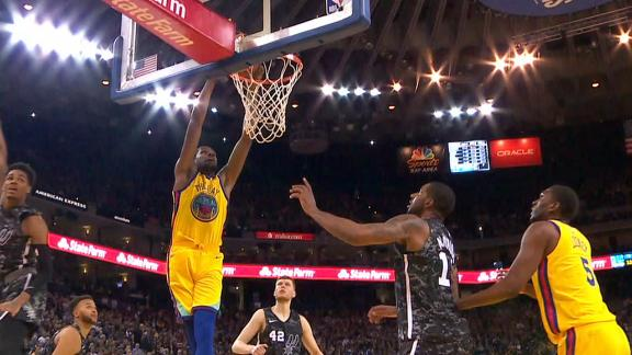 Warriors Lose Curry Early Against Spurs Then Durant Leads