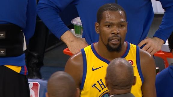 77752c6c076d Warriors  Kevin Durant ejected for arguing with ref in first game ...