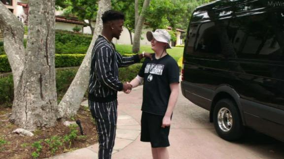 Ethan's dream comes true thanks to Jimmy Butler