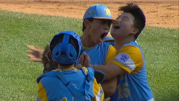Hawaii pitcher records 15th K to clinch U.S. LLWS title