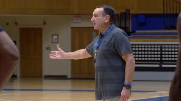 Inside Coach K's practice