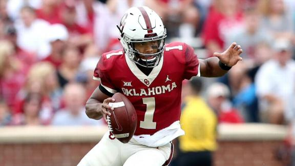 Murray's Heisman season filled with highlights (1:15) After throwing for 40 touchdowns and leading the Sooners to the Big 12 title, Kyler Murray got Oklahoma back to the CFP. (1:15)