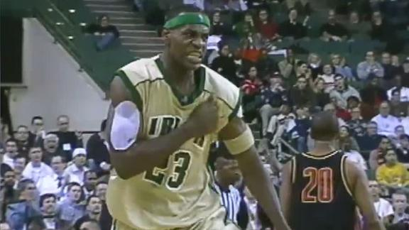 LeBron shines in high school TV debut