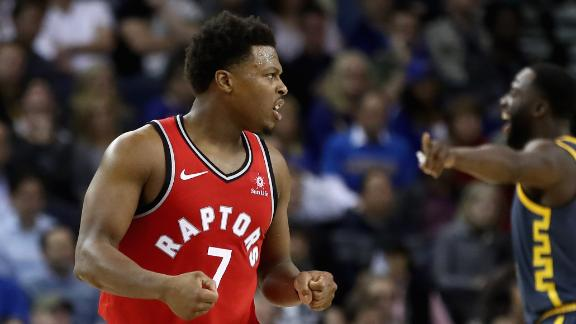 Leonard-less Raptors dominate Warriors