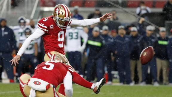 49ers upset Seahawks in OT on game-winning FG (1:53) Robbie Gould's game-winning 37-yard field goal in overtime is true as the 49ers upset the Seahawks 26-23. (1:53)