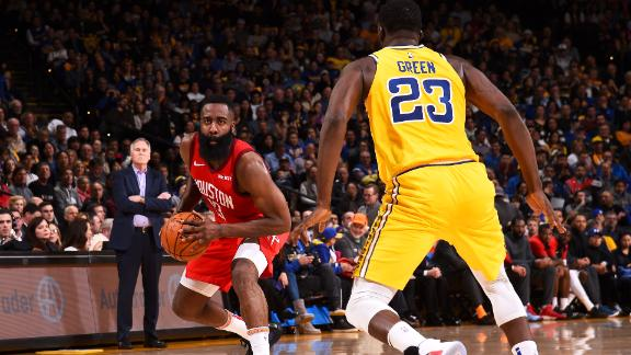 Harden dominates late as Rockets edge Warriors