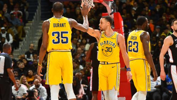 Curry, Durant, Cousins lead Warriors past Wizards