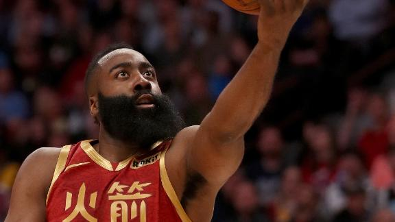 Harden's 30-point streak reaches 25 games