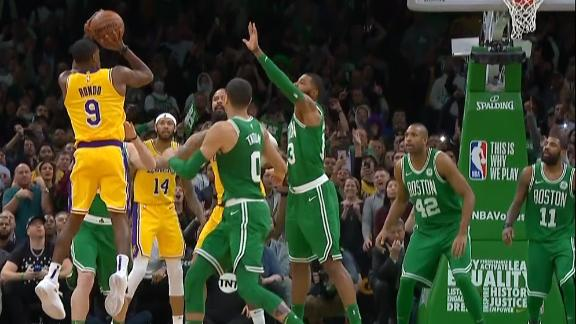 Lakers win on Rondo's buzzer-beater