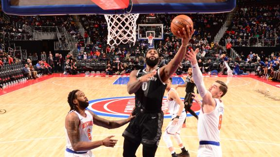 Drummond dominates paint with 29 points, 20 boards