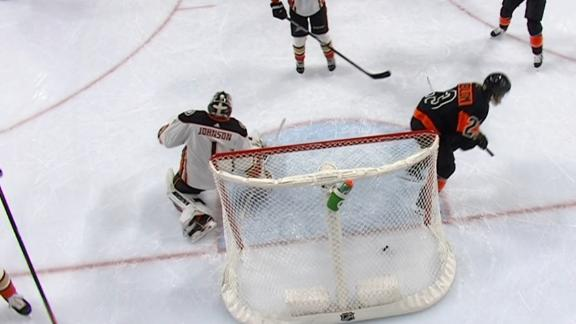 Lindblom's goal gives Flyers 4-0 lead in first period