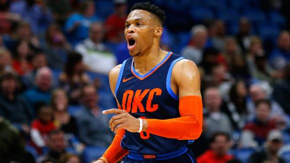Westbrook's 44-point triple-double nullified in loss