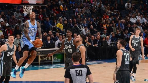 Dunk party at Rising Stars Challenge highlighted by Collins