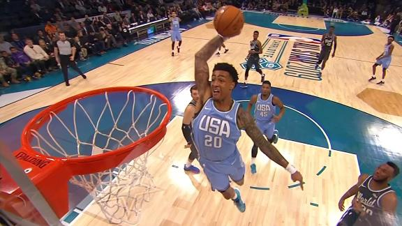 Collins puts on a dunking clinic at Rising Stars game