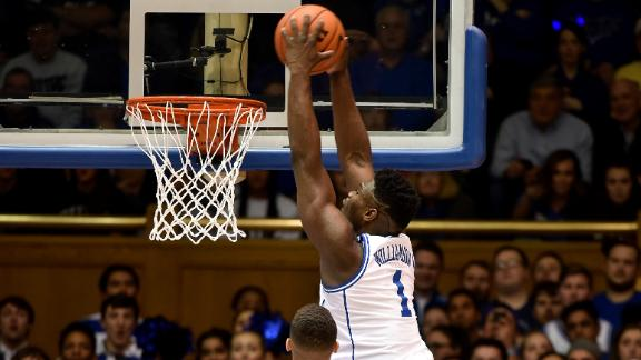 Zion drops 32 points in 16-point blowout of NC State