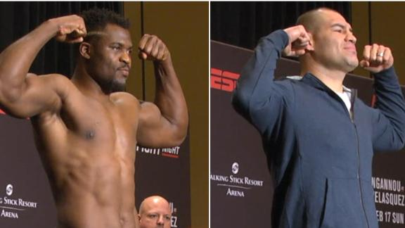 Ngannou, Velasquez both make weight ahead of fight