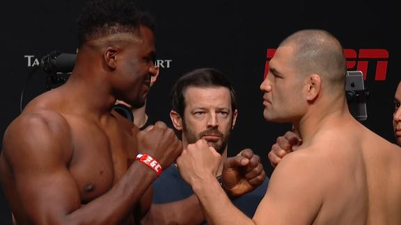 Velasquez and Ngannou square off at weigh-ins