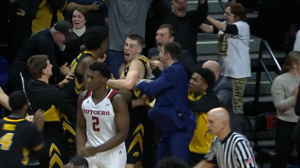 Iowa's Wieskamp banks in 3-pointer at the buzzer