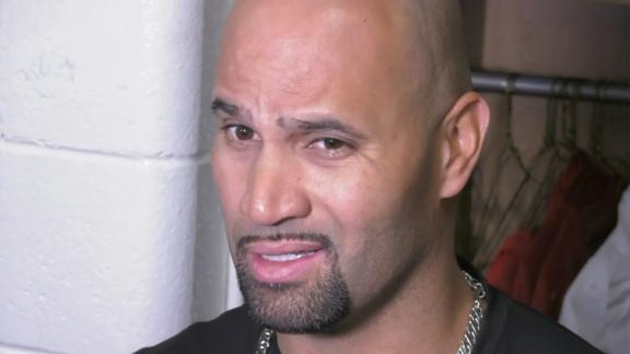 Pujols: 'My goal is to be ready for March 29th'