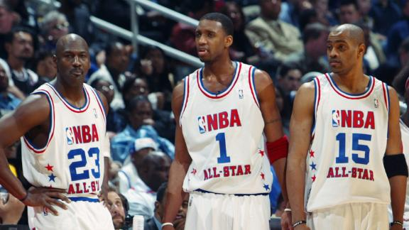 Carter shares MJ 2003 All-Star Game moment, sends birthday wish