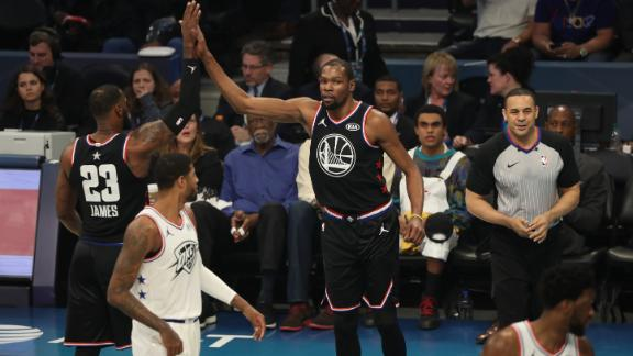 Durant comes on late for All-Star Game MVP