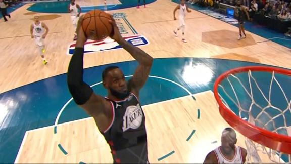 Wade, LeBron exchange alley-oops
