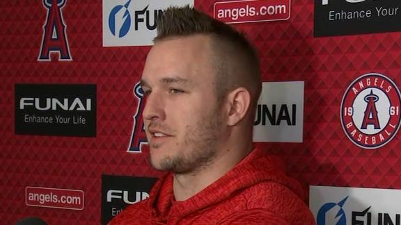 Trout on playing for Phillies: 'I can't predict the future'