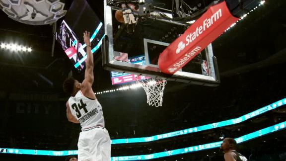 Giannis' freaky All-Star slam in super slow-mo
