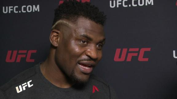 Ngannou wants a title shot after KO win.