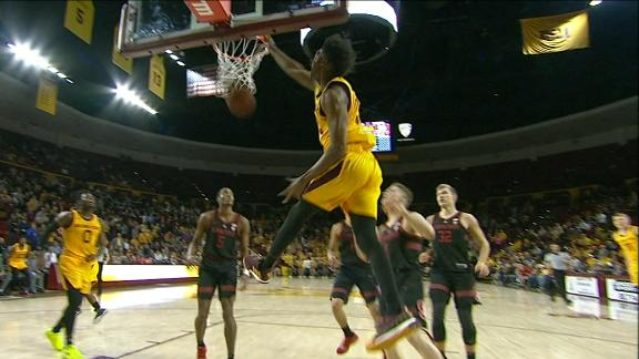 Martin razzle dazzles with between-the-legs pass for dunk