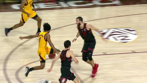 Arizona State's Martin throws two between-the-legs dimes