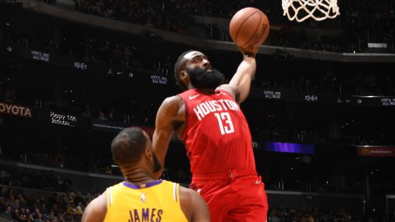 Harden extends 30-point scoring streak in Rockets' meltdown
