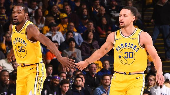 Curry, Durant lead Warriors to comeback win