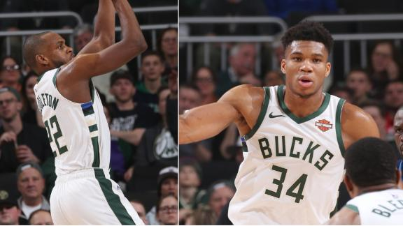 Antetokounmpo, Middleton combine for 55 in win over Wolves