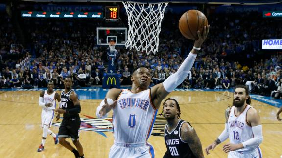 Westbrook puts up 41 in Thunder's loss to Kings